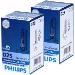 Ampoule Xénon D2S Philips 85122WHV2 WhiteVision gen2