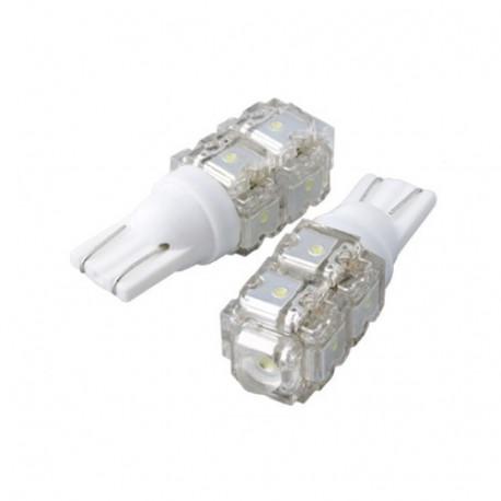 2x Ampoule LED W5W T10 Super 13 FLUX Blanc Xenon 6000K