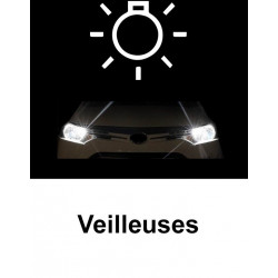 Veilleuses à led Blanc xenon pour Audi A2