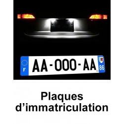Ampoules de plaque à leds blanc xenon pour Audi A2