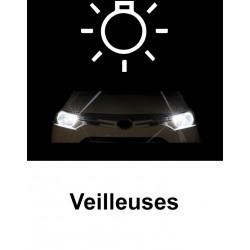 Veilleuses à led Blanc xenon pour Audi A3 8L