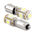 Ampoule BAX9S H6W 5 LED SMD Canbus