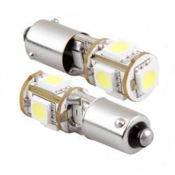 Ampoule 5 LEDS BA9S H4W