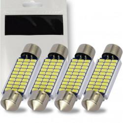 4 x Ampoule LED Canbus C5W 39mm Navette 30 leds