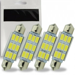 4x Ampoule LED C5W 42mm SMD 9 leds