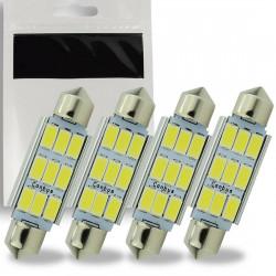 4x Ampoule LED C5W 42mm SMD 9 leds