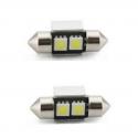 Ampoule Navette à LED C3W 31mm SMD 2 leds Canbus Blanc 6000K