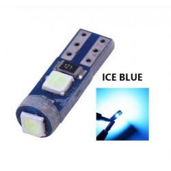 Ampoule T5 LED lumière de courtoisie et compteur Bleu glacier