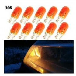 10x Ampoules T10 Orange de remplacement pour clignotants