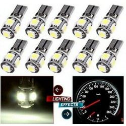 10x Ampoules T10 LED W5W 5 SMD Canbus