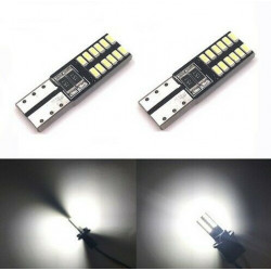 2x Ampoules LED T10 Veilleuses W5W Canbus 24 SMD