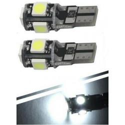 2x Ampoule T10 LED 5 SMD Veilleuses canbus