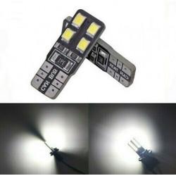 2x Ampoule T10 LED 8 SMD Veilleuses Blanc 6000K