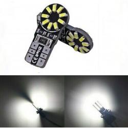 2x Ampoule T10 LED 18 SMD Veilleuses Blanc 6000K