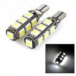2x Ampoule T10 LED Canbus 13 SMD Veilleuse 6000K