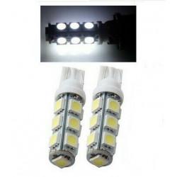 2x Ampoule T10 LED 13 SMD Veilleuse Blanc 6000K