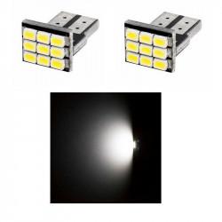 2x Ampoule T10 LED 9 SMD Veilleuses Blanc 6000K