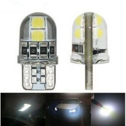 2x Ampoules T10 LED W5W Veilleuse Blanche 6000K Canbus Gel
