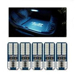 5x Ampoules T10 W5W LED Veilleuses 24 SMD Canbus Bleu glacier