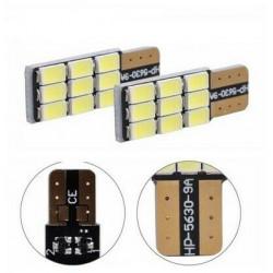 2x Ampoule LED T10 Veilleuse 9 smd anti-erreur