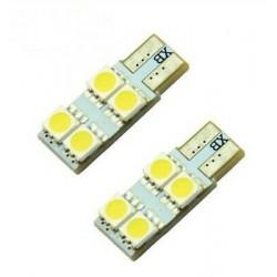 2x AmpouleS W5W LED T10 BLANC XENON 4 SMD