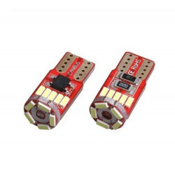 2x Ampoule T10 LED W5W ULTRA Blanc 15 SMD 6500K