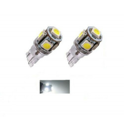 2x Ampoule T10 LED 5 SMD Veilleuses canbus 24V