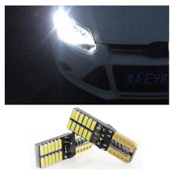 2x Ampoule T10 LED Canbus 24 SMD Veilleuse 6000K