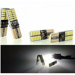 4x Ampoules T10 Canbus LED W5W 24 SMD