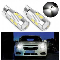 2x Ampoules LED T10 W5W Veilleuses 10 SMD