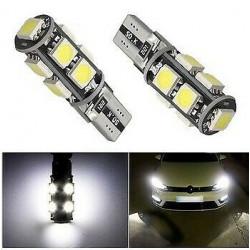 2x Ampoule T10 W5W LED Canbus 9 SMD Veilleuse
