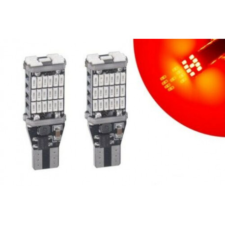 Ampoules T15 LED W16W 45 smd Rouge Canbus