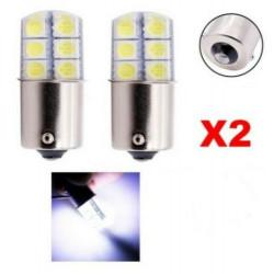 2x Ampoule BA15S LED P21W Blanc 6000K 12 SMD