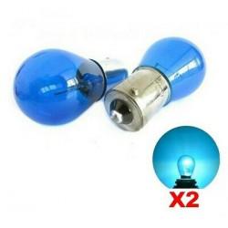 2x 2x ampoules BA15S Bleu Lampe P21W Feux de jour