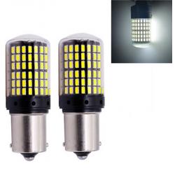 2x Ampoule BA15S LED P21W pour Voiture 144 SMD Extra Blanc
