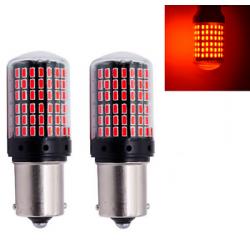 2x Ampoule BA15S LED P21W pour Voiture 144 SMD Rouge