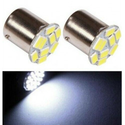 2x Ampoule BA15S LED P21W Blanc Xenon Veilleuses 9 SMD