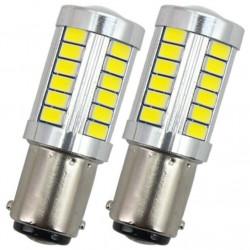2x Ampoule BA15S LED P21W COB Jaune