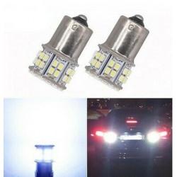 2x Ampoule BA15S LED P21W 50 SMD Blanc