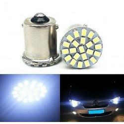 2x Ampoule BA15S LED P21W 22 SMD Blanc