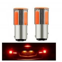2x Ampoule BA15S LED P21W COB Rouge Veilleuses feux arrière