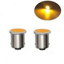 2x Ampoules LED BA15 P21W COB Orange pour Clignotants