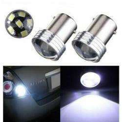 2x Ampoule BA15S LED P21W Blanc Feux de Jour 6 SMD