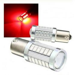 2x Ampoules BA15S LED P21W 33 SMD Rouge
