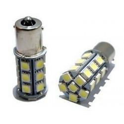 2x Ampoules BA15S LED P21W Blanc 6000K Feux de Jour 24 SMD