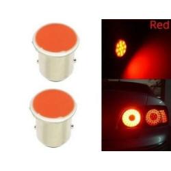 2x Ampoule BA15S LED P21W COB Rouge Veilleuses