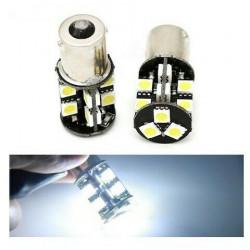 2x Ampoules BA15S LED P21W 19 SMD 6000K Blanc