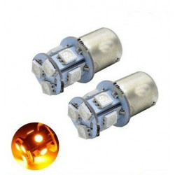 Ampoule BA15S LED P21W 8 SMD Orange