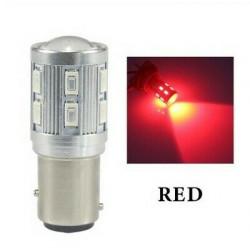 1x Ampoule LED BA15S P21W 12 Smd CREE Rouge