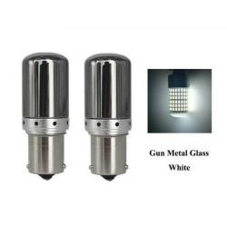 BA15S LED Ampoule P21W 144 SMD Chrome Blanc